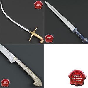 3d model of east swords