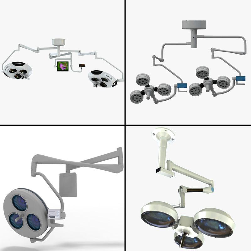 3d model operating lamps
