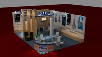 3d model stand exhibition