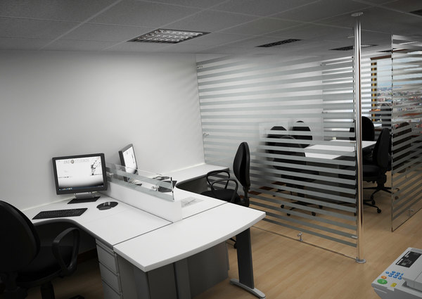3d office scene furniture