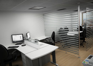 3d office scene furniture
