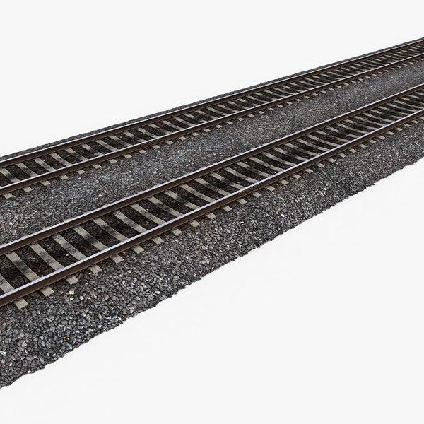 3d model of railway tracks 1