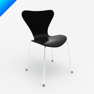series 7 chair arne 3d 3ds