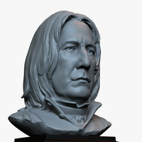 3d printable bust sculpture Severus Snape (Alan Rickman) from Harry Potter movies