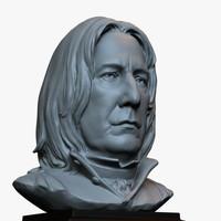 3d printable bust sculpture Severus Snape