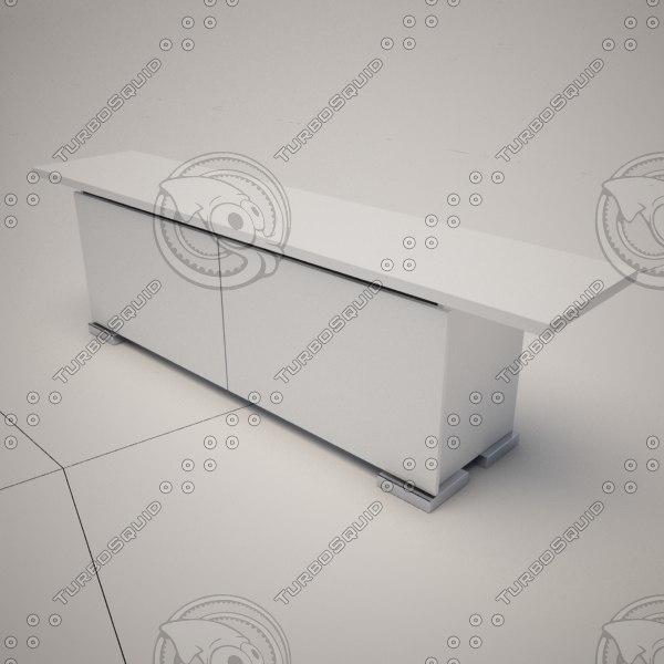 shamal sideboard cattelan italia 3d model