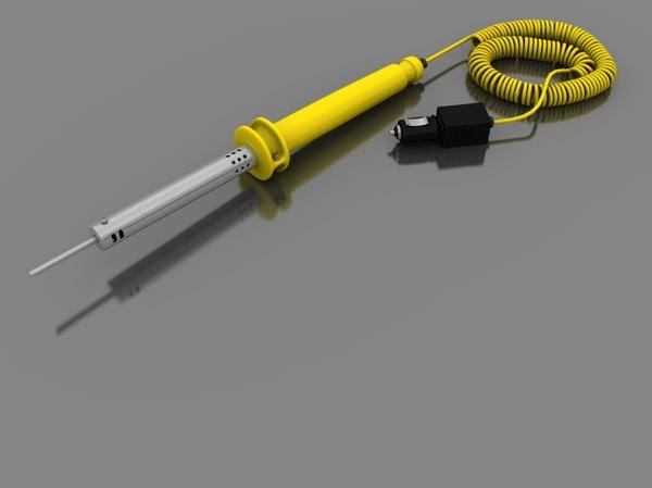 solder gun 3d model