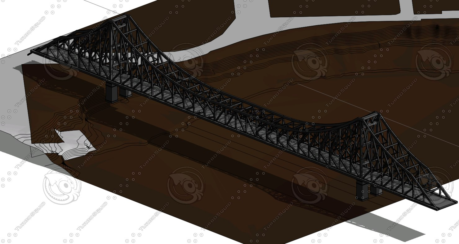 brisbane story bridge 3d dwg