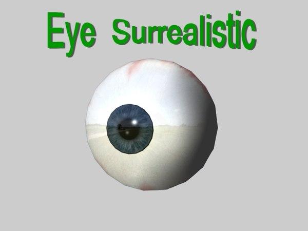 free eye normal 3d model