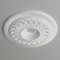 ceiling medallion 3d max