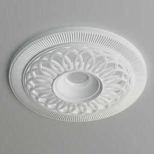 ceiling medallion 3d max