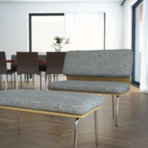 3d armchair barbereche model