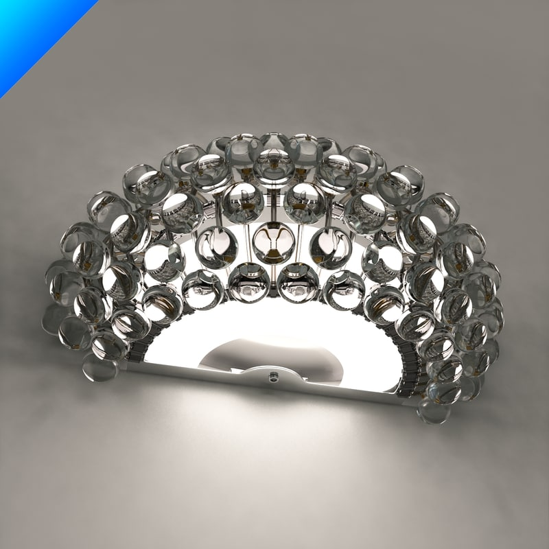 Caboche wall lamp patricia 3d model aloadofball Images