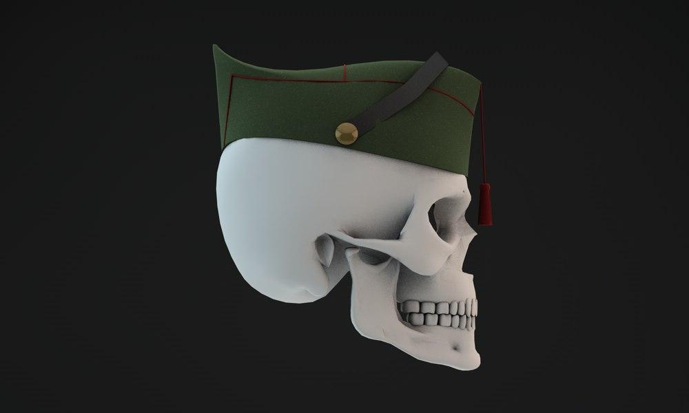 3d calavera legionario model