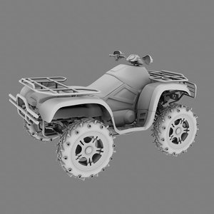 terrain 4-wheeler 3d model