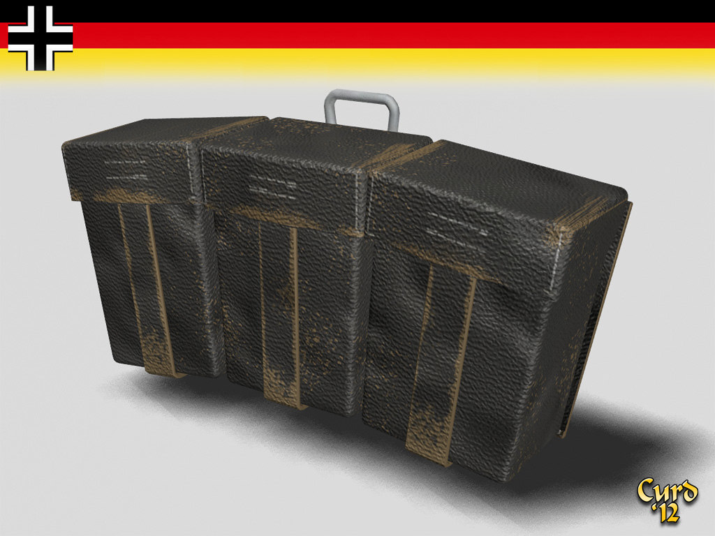 3d ammo pouch german wwii