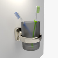 cup toothbrush 3d fbx