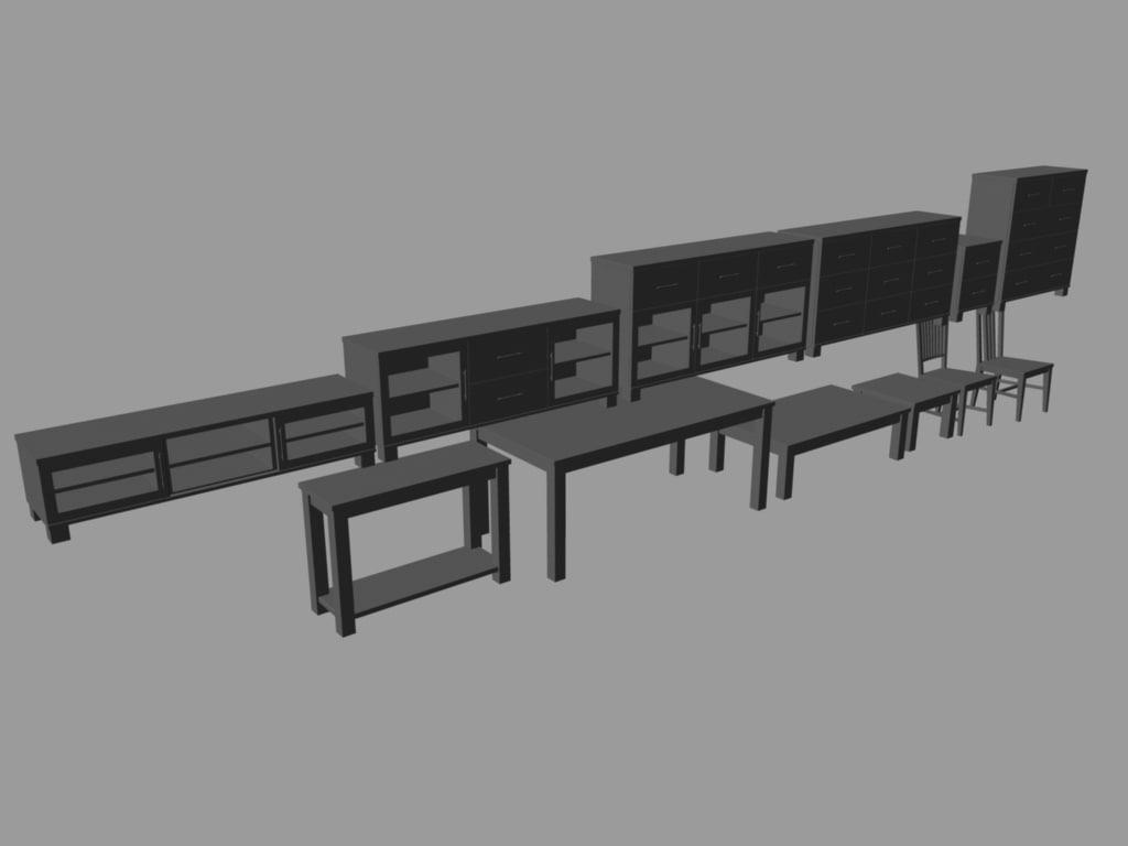 milan furniture 3d model