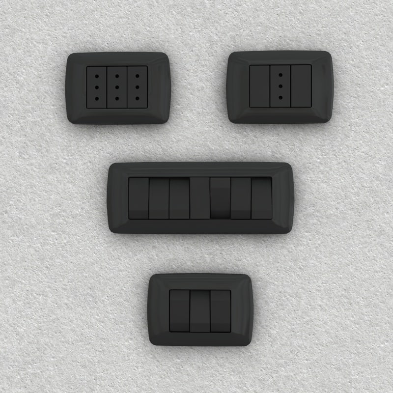 c4d electrical switches sockets plugs
