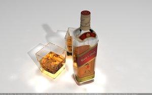 bottle walker red 3d model