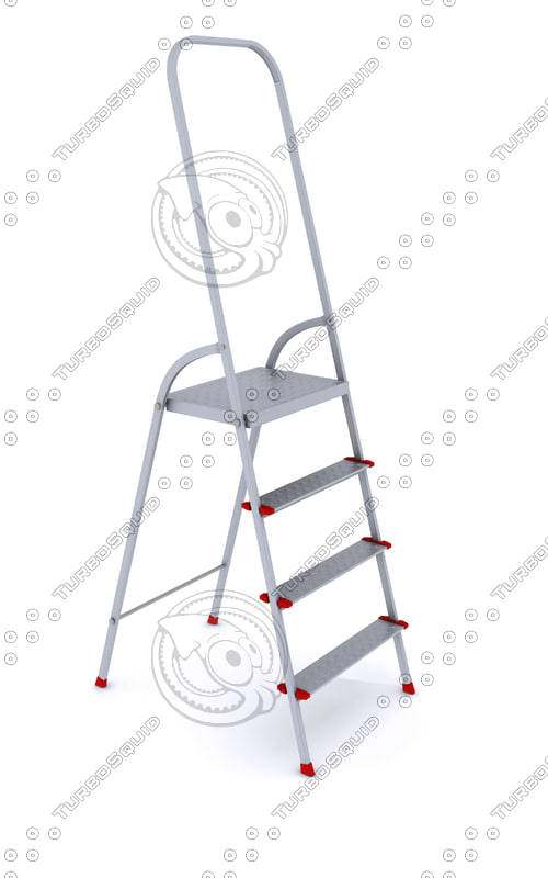 3d folding metal ladder