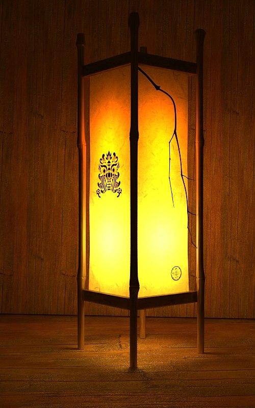 korean traditional lamp max free