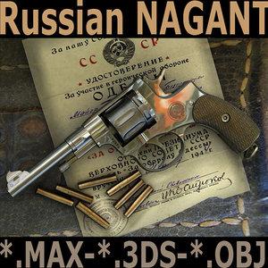 3d chrome nagant