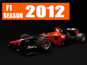 3d model marussia mr01 2012