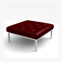 contemporary red leather stool c4d