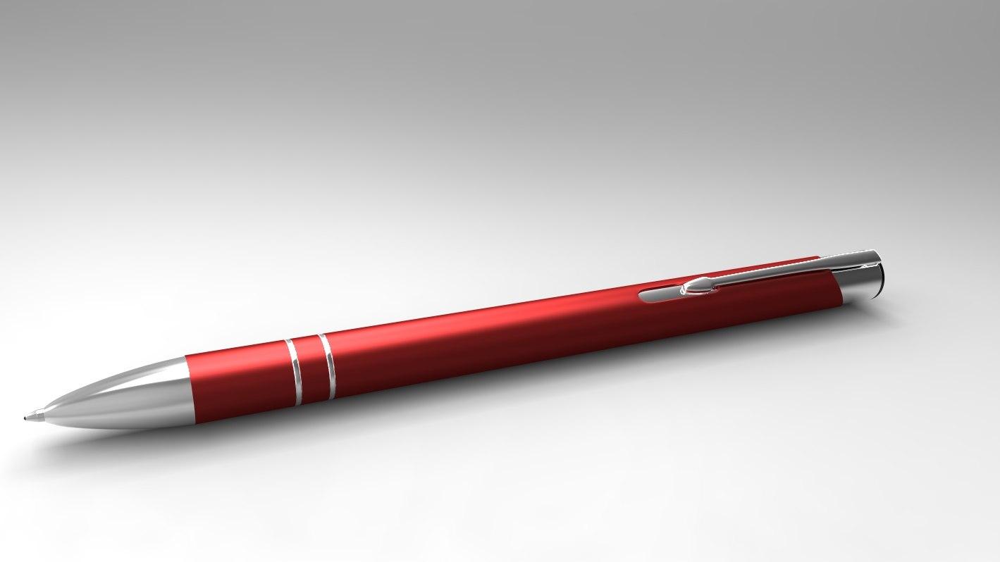 ballpoint pen 3d obj