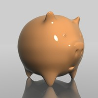 3d pigbank contains model