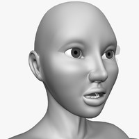 free alexa realistic female 3d model