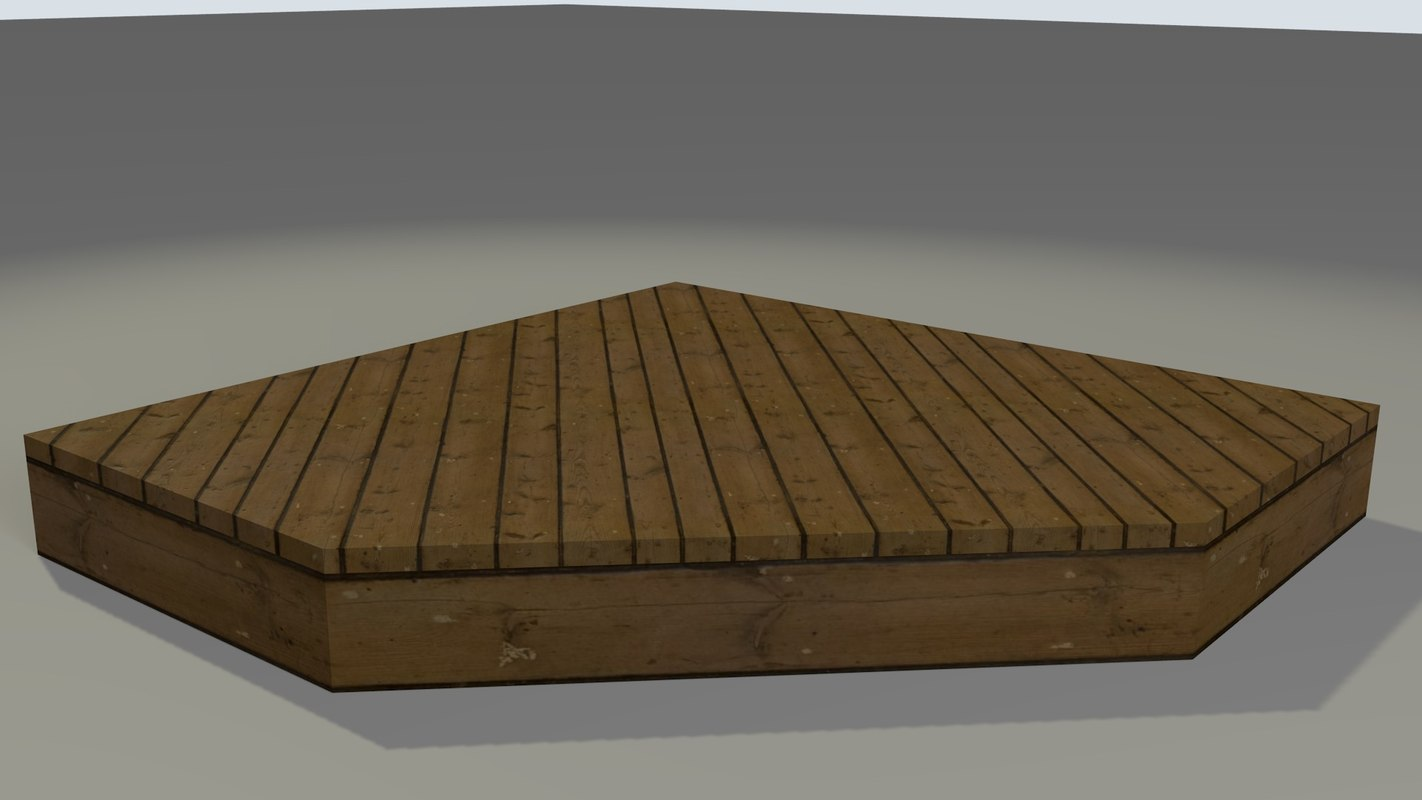 3d model patio deck