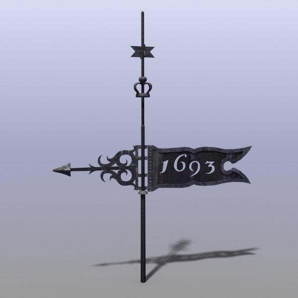 weather vane 3d model