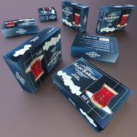 3d obj box sugar cubes