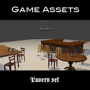props assets 3d blend
