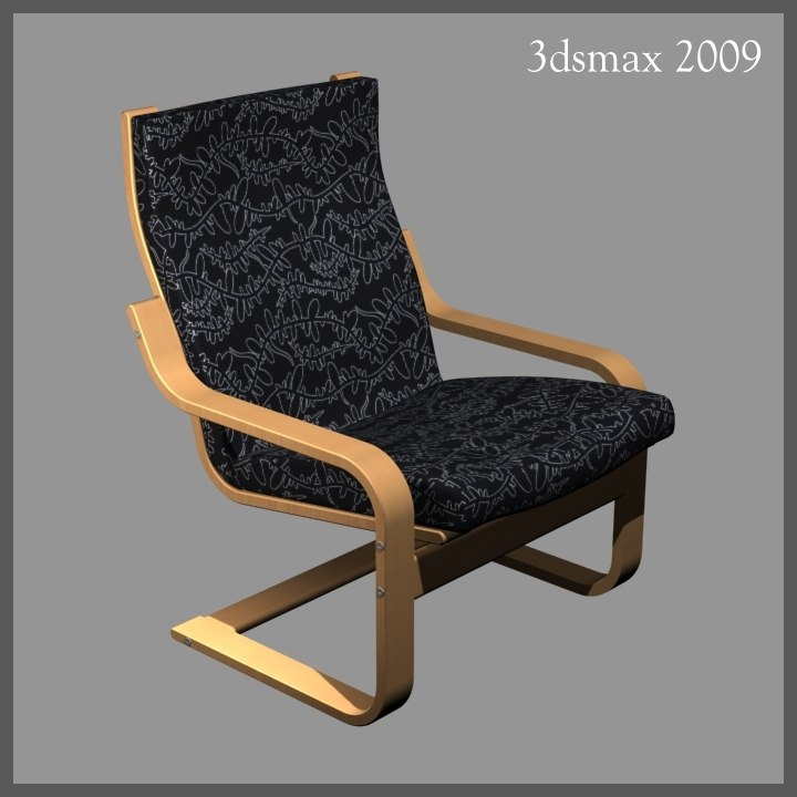 3d model chair similar ikea
