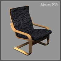 3d model chair similar ikea