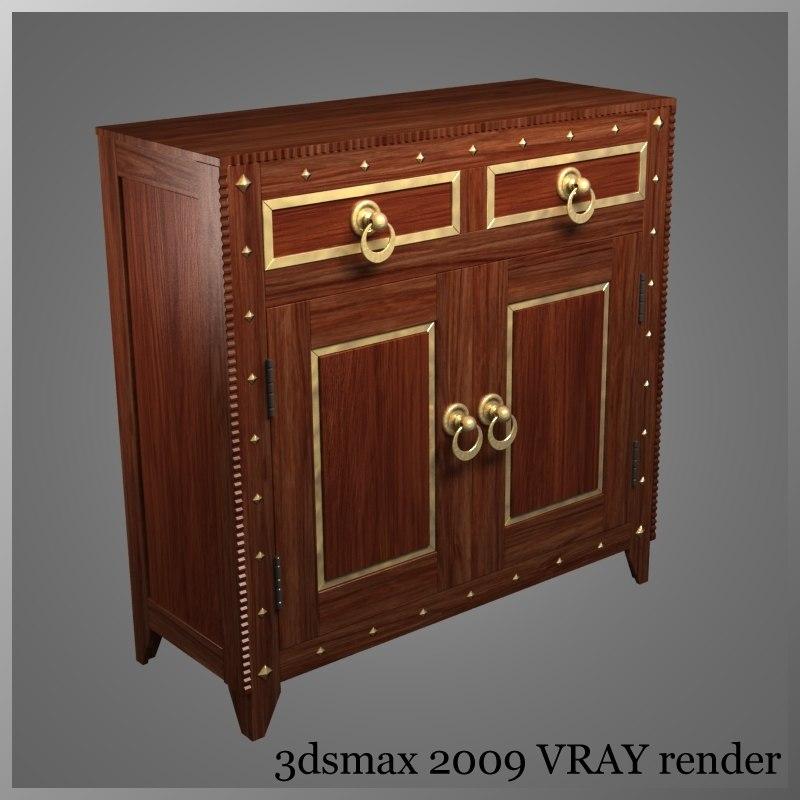 3d cabnet drawers doors model