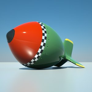 wwii retro bomb 3d model