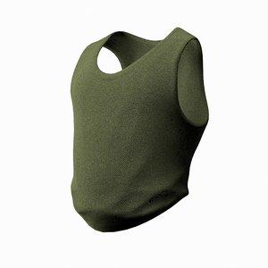 man s army vest 3d model