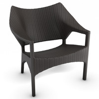 woven lounge chair 3d 3ds