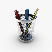 pencil holder pens 3d 3ds