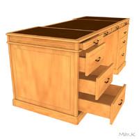 3d writing desk model