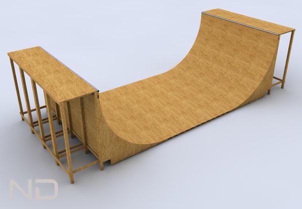 3ds skateboard skate half