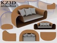 ID004 Cross Round Sofa