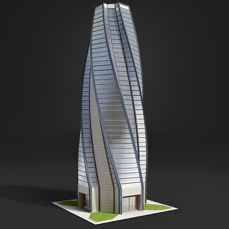 3d skyscraper business center model