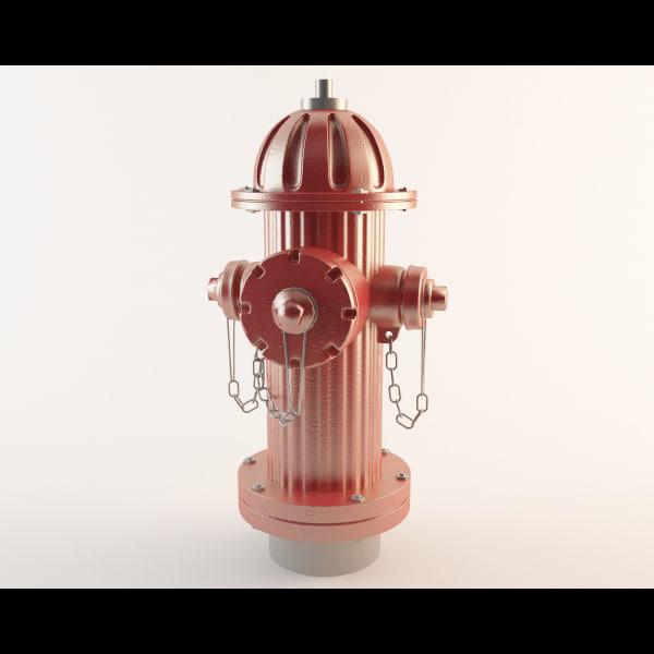 3d hydrant water model