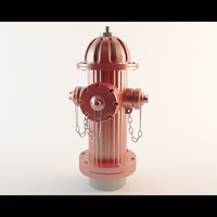 3d hydrant water model