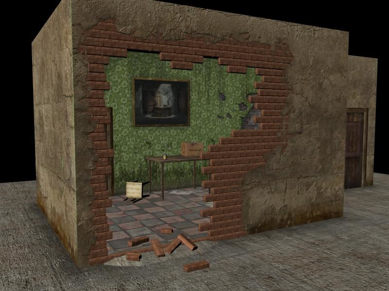 ruined house 3d model